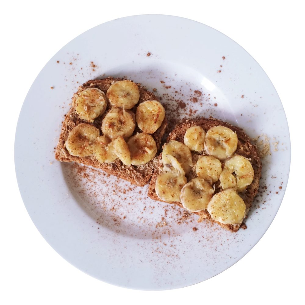 Cinnamon Whole Wheat Toast & Caramelized Bananas