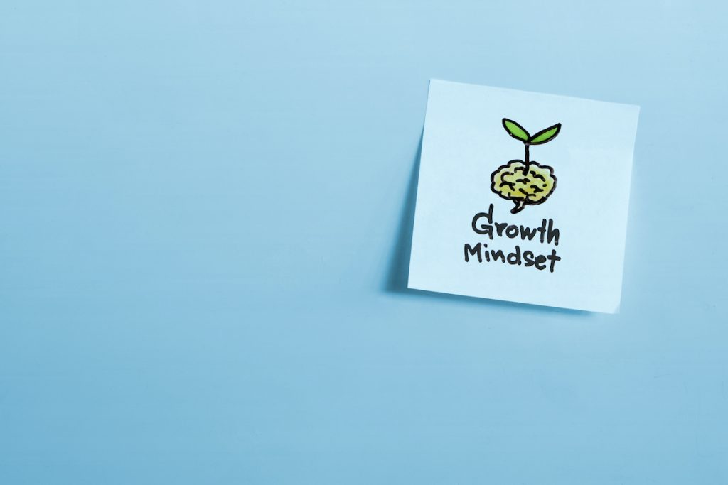 Drawing of growth mindset concept