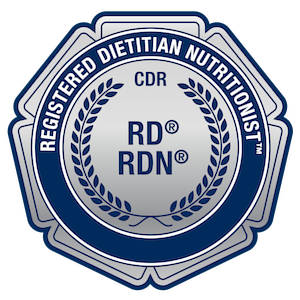 registered dietitian badge claire haft